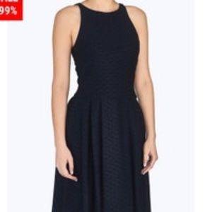Emporio Armani Blue Black Textured Dress Sz L